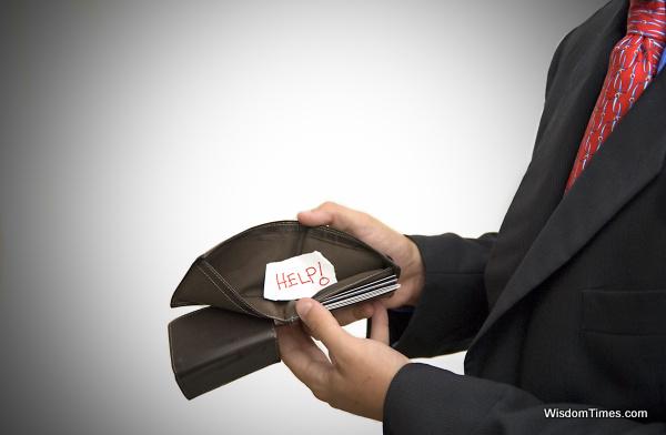 Businessman's Empty Wallet Help
