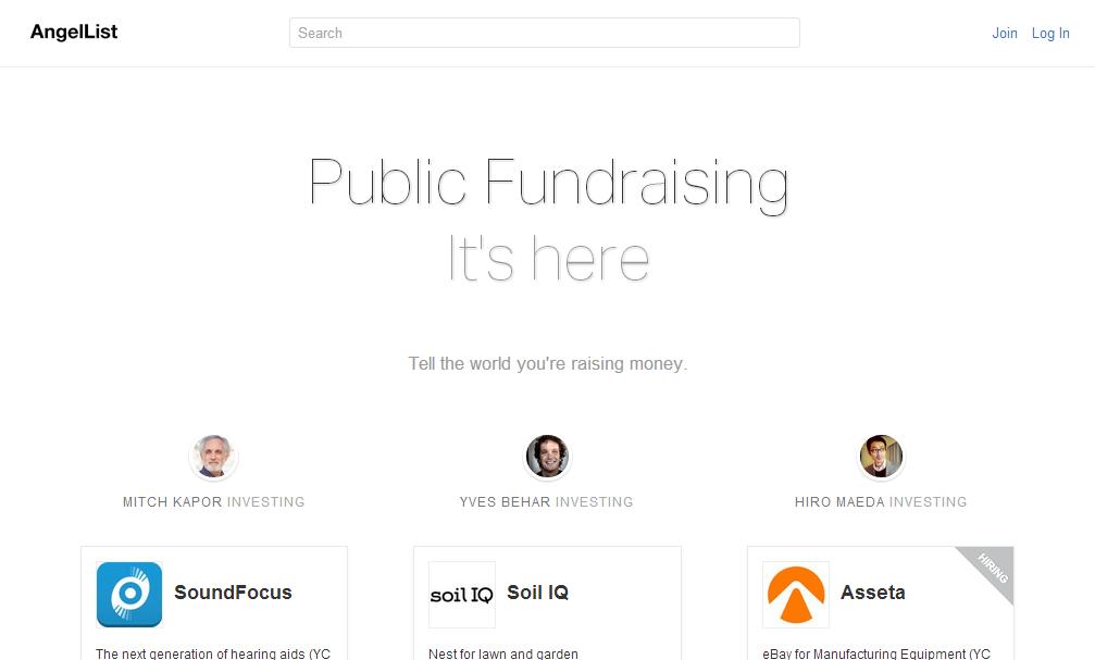 situs crowdfunding website AngelList