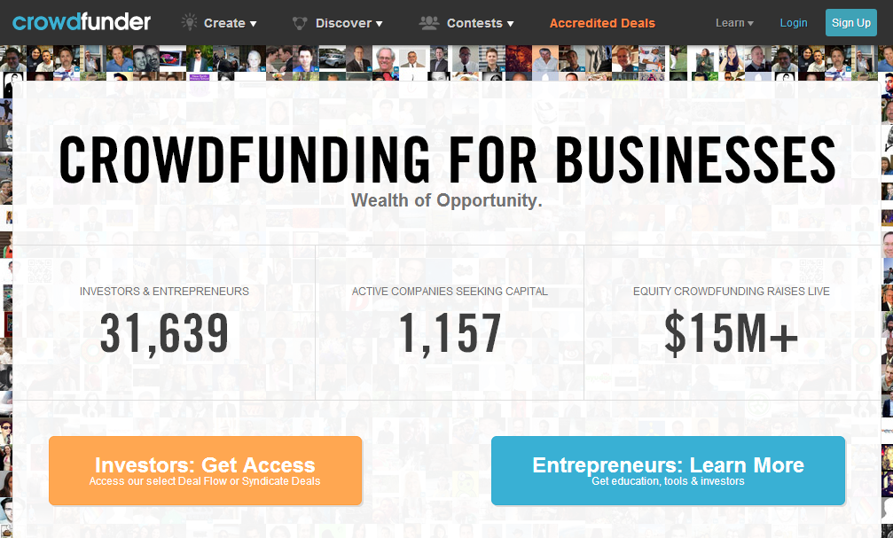 situs crowdfunding website Crowdfunder Equity and Investment Crowdfunding Platform