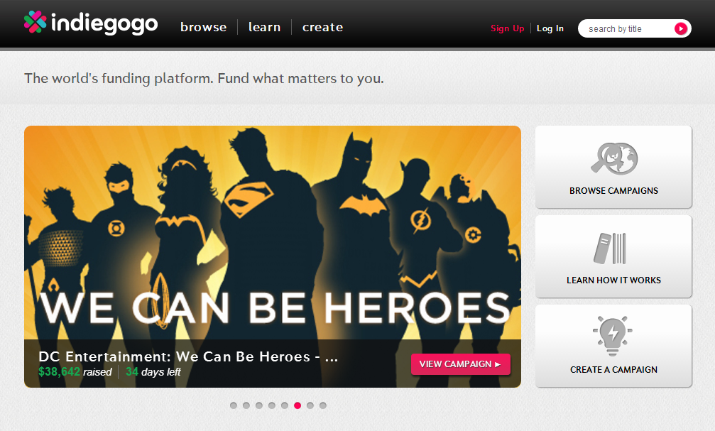situs crowdfunding website Indiegogo An International Crowdfunding Platform to Raise Money