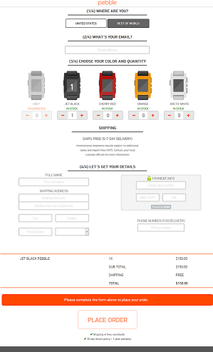 Checkout Pebble Smartwatch iPhone Android Smartwatch - Kisah Sukses Pebble, Modal Bisnis dari Situs Crowfunding