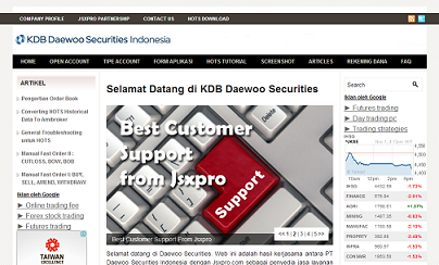 KDB Daewoo Securities Indonesia 1 Online Stock Trading Indonesia bisnis online