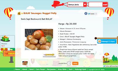 Sosis Sapi Bockwurst Ball BULAF Delivery Online Makanan Siap Saji Kue dan Oleh oleh Khas Yogyakarta PesanSaja.com bisnis online