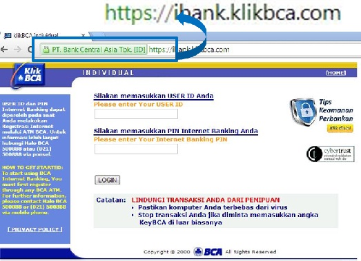 Online Banking di Indonesia KlikBCA