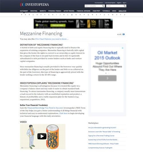 Mezzanine Financing Definition   Investopedia - Perencana Keuangan Independen Finansialku