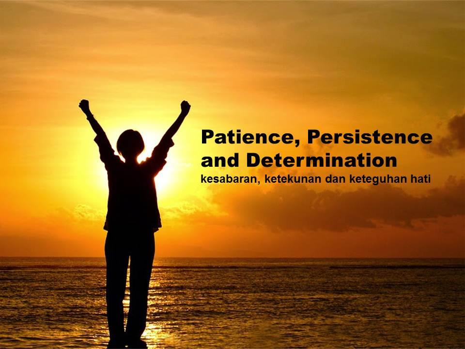 Patience, Persistence and Determination - Perencana Keuangan Independen Finansialku