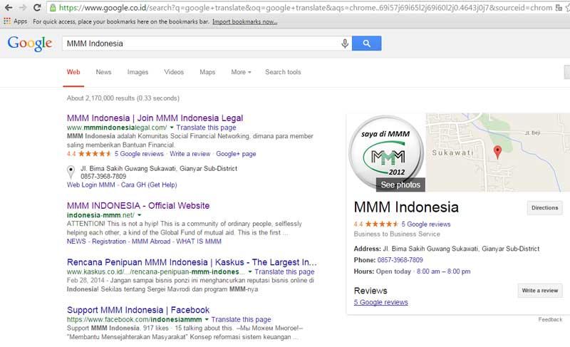 Situs MMM Diblokir OJK - Hasil Pencarian Google mengenai MMM