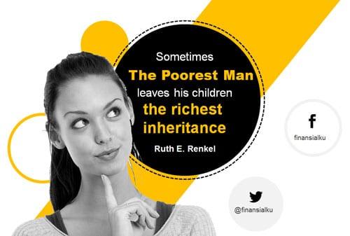 Orang Tua Jangan Hanya Mewariskan Uang - Perencana Keuangan Independen Finansialku