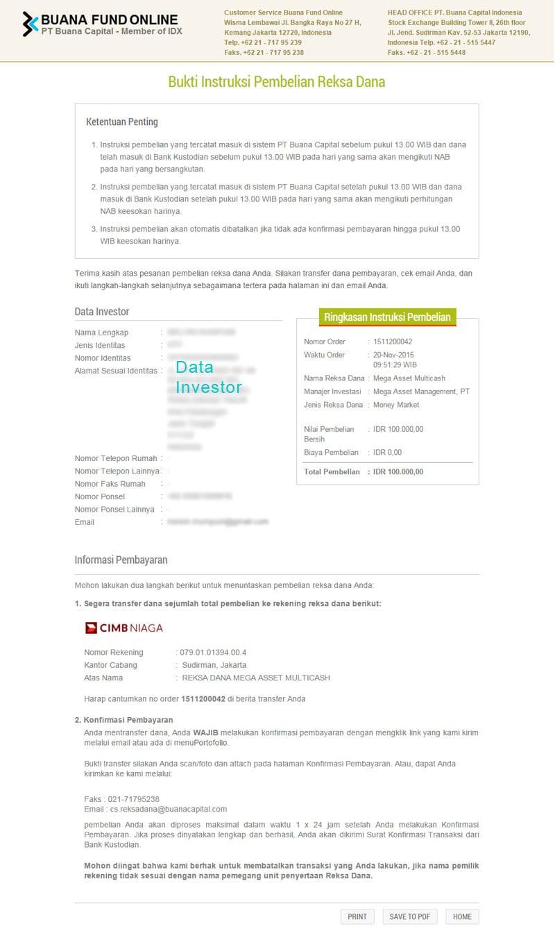Step 3 Membeli Reksadana Online - Konfirmasi Pembayaran Bareksa - Perencana Keuangan Independen Finansialku