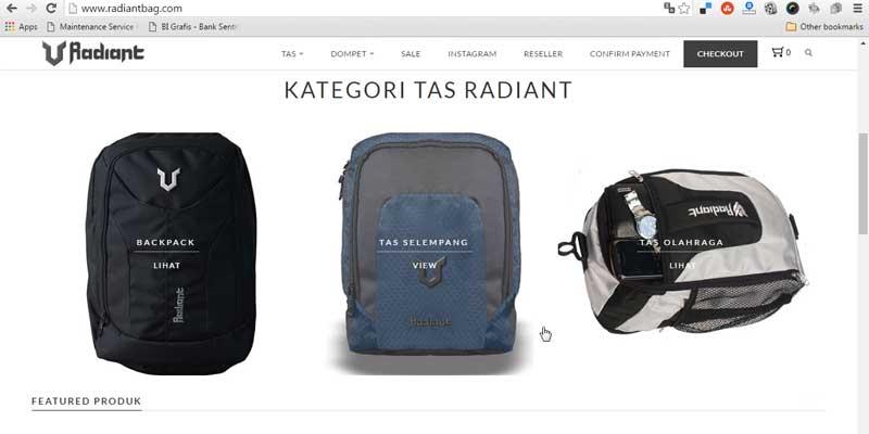 Radiantbag - Bisnis Online
