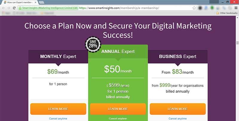 Website SmartInsights - Perencana Keuangan Independen Finansialku