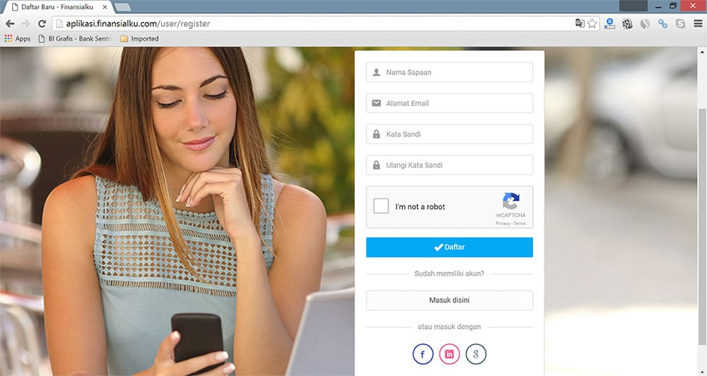 Registrasi Aplikasi Finansialku - Perencana Keuangan Independen Finansialku