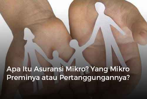 Apa Itu Asuransi Mikro Yang Mikro Preminya atau Pertanggungannya Cover - Finansialku