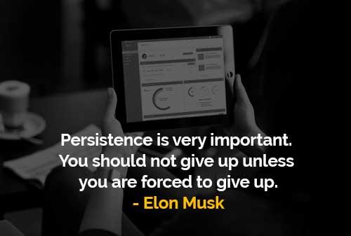 Ketekunan Sangat Penting (Elon Musk) - Finansialku