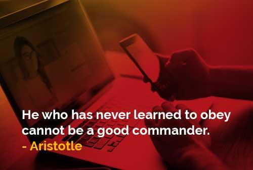 Belajar untuk Taat akan Menjadi Komandan yang Baik - Finansialku