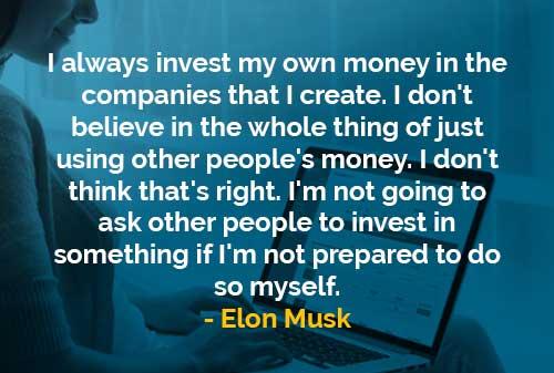 Investasi Uang Sendiri di Perusahaan (Elon Musk) - Finansialku