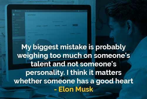 Kesalahan Terbesar yaitu pada Bakat Seseorang dan Tidak pada Kepribadian - Finansialku