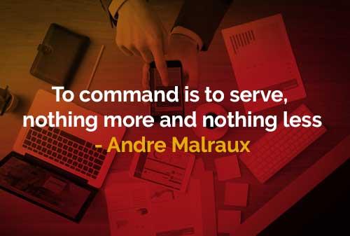 Memerintah adalah melayani (Andre Malraux) - Finansialku