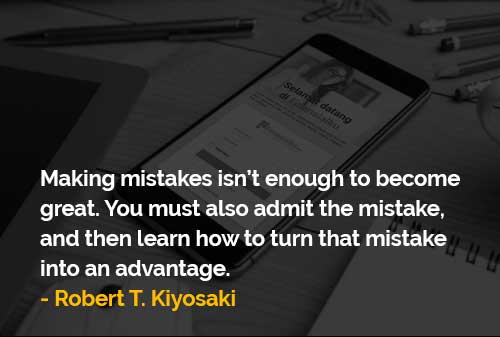 Mengakui Kesalahan dan Belajar Bagaimana Mengubah Kesalahan - Finansialku