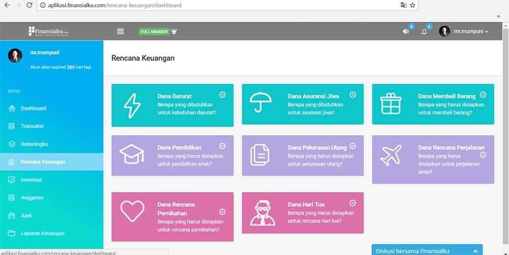 Setiap Orang 06 Merencankan Keuangan Aplikasi Finansialku Versi Web