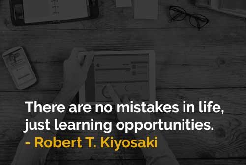 Tidak Ada Kesalahan Dalam Hidup, Hanya Kesempatan Untuk Belajar - Finansialku