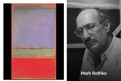 8 Lukisan Termahal di Dunia 04 - No 6 (Violet, Green and Red) karya Mark Rothko - Finansialku