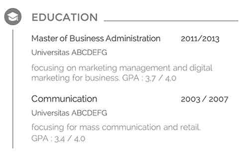 Free Download Curriculum Vitae (CV) atau Resume yang Memikat para HRD 9 - Finansialku