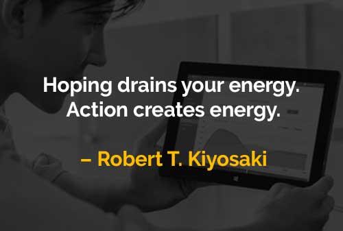 Harapan dan Aksi (Robert T. Kiyosaki) - Finansialku