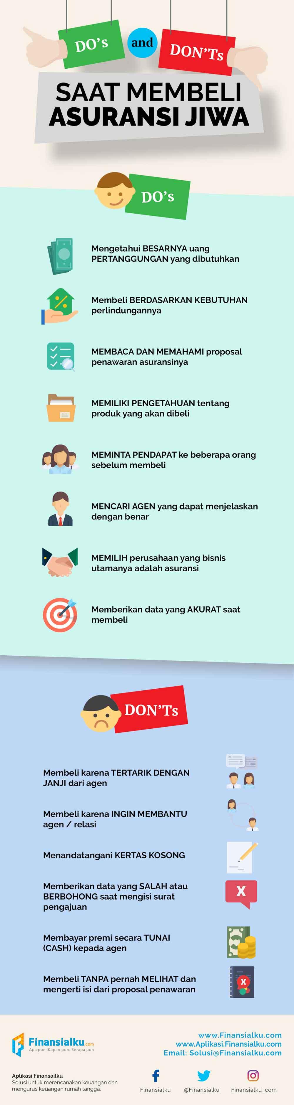 Infografik Do's and Don'ts Saat Membeli Asuransi Jiwa 02 - Finansialku