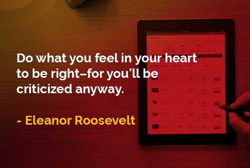 Lakukan Apa yang Anda Rasakan di Dalam Hati Dengan Benar - Finansialku