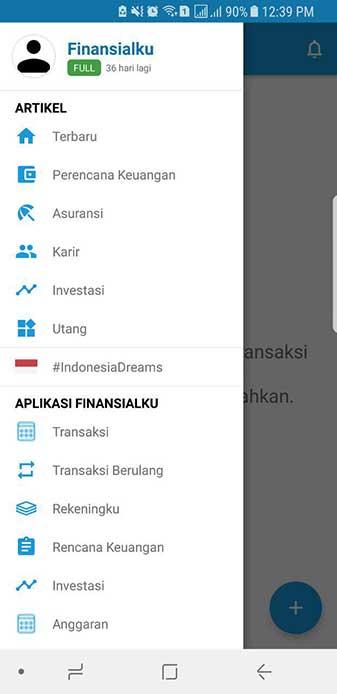 Transaksi Berulang Aplikasi Keuangan Finansialku 1
