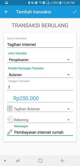 Transaksi Berulang Aplikasi Keuangan Finansialku 4