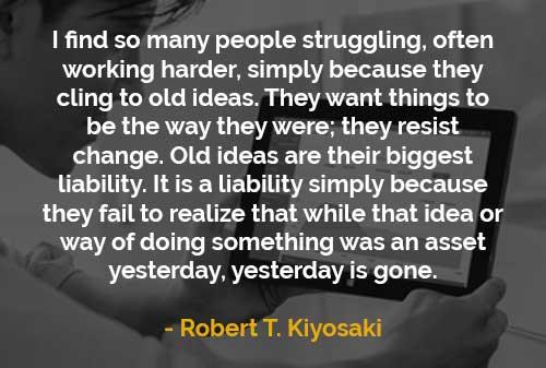 Kata-kata Motivasi Robert T. Kiyosaki Banyak Orang Berjuang dan Bekerja Keras - Finansialku