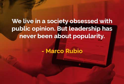 Kata-kata Bijak Marco Rubio Hidup Dalam Masyarakat yang Terobsesi - Finansialku