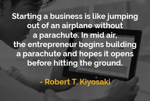 Kata-kata Motivasi Robert T. Kiyosaki Memulai Bisnis Ibarat Terjun dari Pesawat Tanpa Parasut - Finansialku