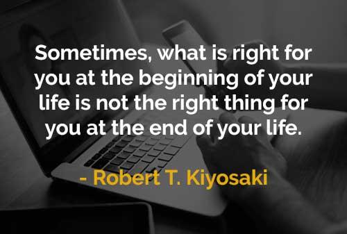 Kata-kata Motivasi Robert T. Kiyosaki Yang Tepat Di Awal Bukan Yang Tepat Di Akhir - Finansialku