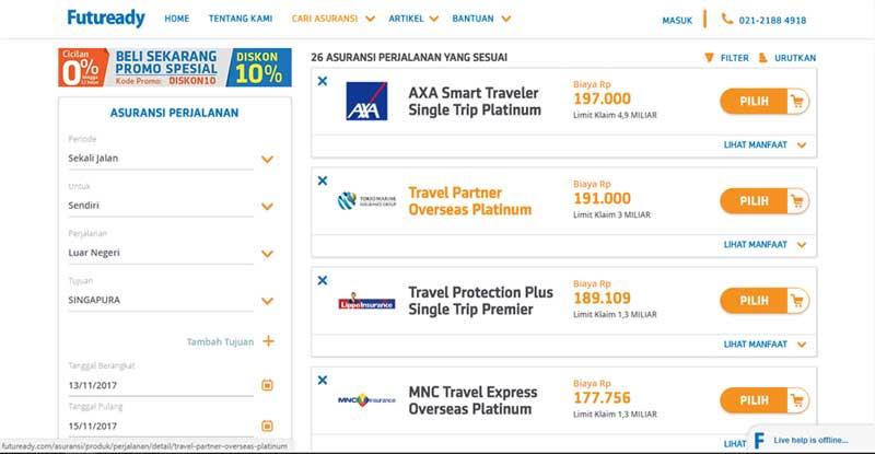 Bagaimana Cara Membeli Asuransi Perjalanan Online, Agar Perjalanan Lebih Aman 03 - Finansialku