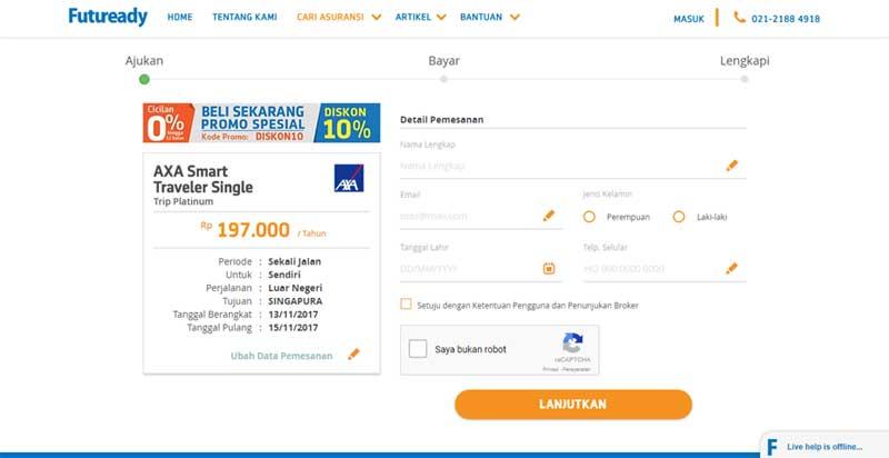 Bagaimana Cara Membeli Asuransi Perjalanan Online, Agar Perjalanan Lebih Aman 04 - Finansialku