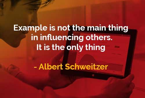 Kata-kata Bijak Albert Schweitzer Mempengaruhi Orang Lain - Finansialku