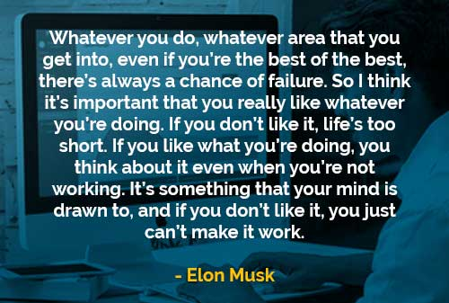 Kata-kata Bijak Elon Musk Selalu Ada Kemungkinan Gagal - Finansialku
