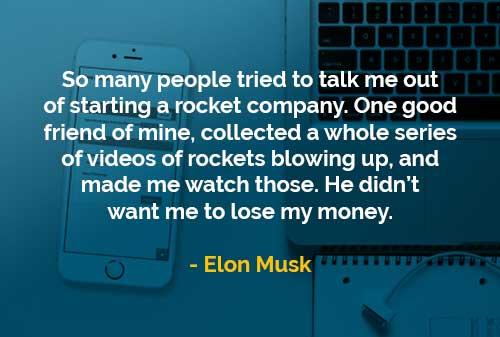 Kata-kata Bijak Elon Musk Tidak Ingin Kehilangan Uang - Finansialku