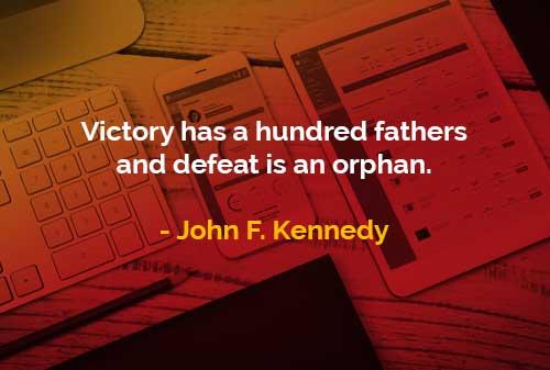 Kata-kata Bijak John F. Kennedy Kemenangan dan Kekalahan - Finansialku