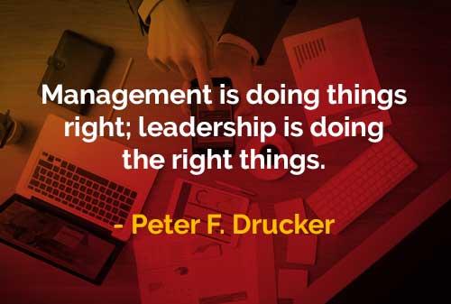 Kata-kata Bijak Peter Drucker Manajemen dan Kepemimpinan - Finansialku