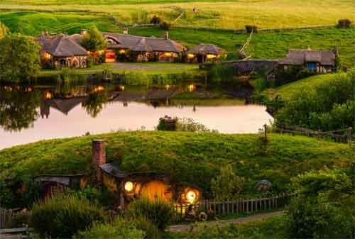 Rumah Hobbit Bandung 02 Desa Hobbit Selandia Baru - Finansialku