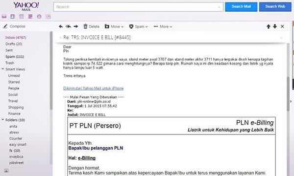 Cek Tagihan Listrik Online email Finansialku