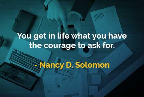 Kata-kata Bijak Nancy D. Solomon Anda Akan Mendapatkan di Dalam Hidup - Finansialku