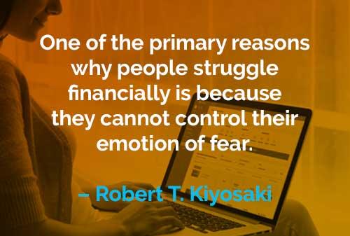Kata-kata Motivasi Robert T. Kiyosaki Berjuang Secara Finansial - Finansialku