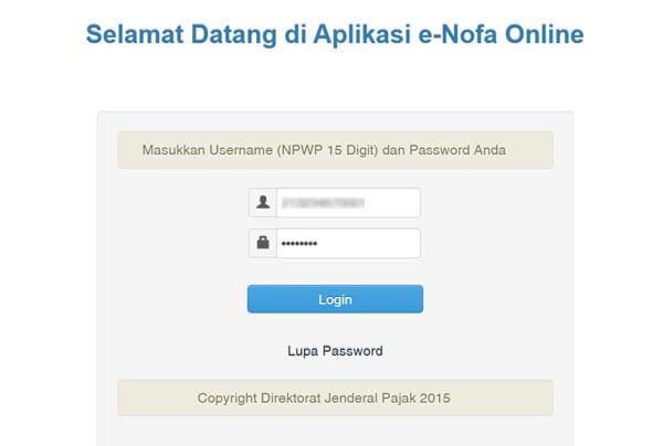 Enofa pajak enofa online