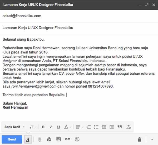Ketahui Etika Menulis Email Lamaran Kerja Agar Lamaran Dibalas Hrd