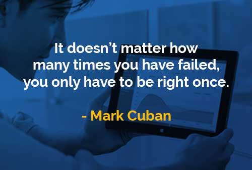 Kata-kata Bijak Mark Cuban Anda Akan Berhasil - Finansialku